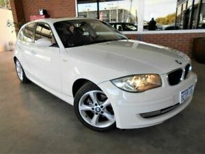 2008 BMW 120i E87 MY09 White 6 Speed Automatic Hatchback St James Victoria Park Area Preview