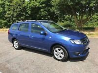 2015 DACIA LOGAN MCV TURBO DIESEL LAUREATE, Blue, no road tax, MOT Jan'19, extended warranty