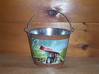 """LEINENKUGELS """"JOIN US OUT HERE"""" METAL BEER ICE BUCKET COOLER NEW"""