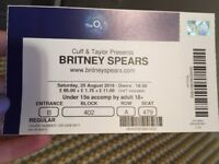 1 x BRITNEY SPEARS TICKET - 25TH AUGUST 2018! Block 402, Row A, Seat 479