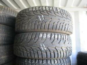 225/55 R17 HANCOOK WINTER I*PIKE WINTER TIRES USED SNOW TIRES (SET OF 2) - APPROX. 90% TREAD
