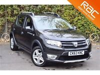 DACIA SANDERO 0.9 STEPWAY AMBIANCE TCE 5d 90 BHP 1 OWNER FROM NE (black) 2013