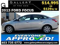 2013 Ford Focus SE $129 bi-weekly APPLY TODAY DRIVE TODAY