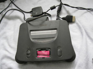 Nintendo 64 system with all cables and controller or best