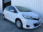 2012 Toyota Yaris NCP130R YR White 5 Speed Manual Hatchback Molendinar Gold Coast City Preview