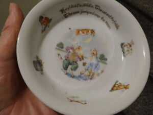 CHILD'S DISH  made in Germany,signed, some wear on decoration
