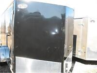 2016 7X14 V-Nose Enclosed Trailer with 6
