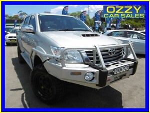 2014 Toyota Hilux KUN26R MY12 SR5 (4x4) Silver 4 Speed Automatic Dual Cab Pick-up Penrith Penrith Area Preview