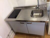 Ikea Kitchen Unit - sink, fridge, hob, cupboard