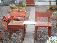 Set of garden chairs