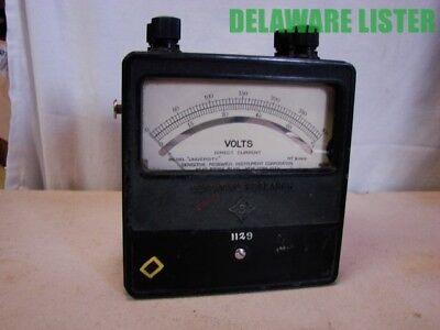 Vintage Sensitive Research Instrument Corp Watts Meter Model University 31004