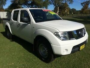 2011 Nissan Navara D40 MY11 RX (4x2) White 5 Speed Automatic Dual Cab Pick-up Tuggerah Wyong Area Preview