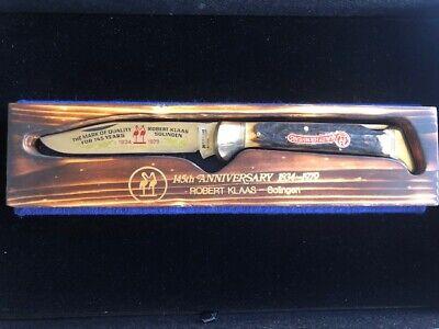 1979 KISSING CRANE ROB KLAAS LTD ED 145th ANNIVERSARY Stag Lockback Pocket Knife