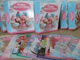 Cake Decorating magazines, 140+ magazines in 9 binder folders, + box of accessories.