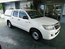 2012 Toyota Hilux GGN15R MY12 SR White 5 Speed Automatic Dual Cab Pick-up Hamilton Newcastle Area Preview