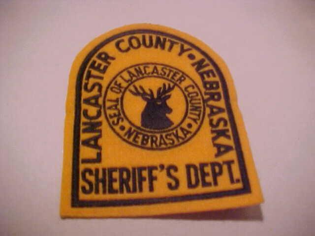 LANCASTER NEBRASKA POLICE PATCH ( FREE SHIP IN U.S. ) ALL FELT TYPE NEAT ITEM