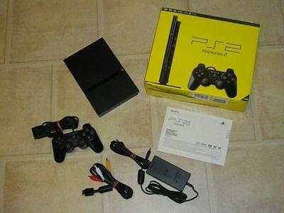 Playstation 2 Slim komplett mit Controller PS2 PS 2 *OVP* (Ps2 Komplett Konsole)