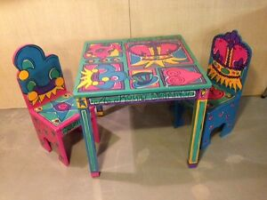 Childs Table and 2-Chairs with mat - Pier One