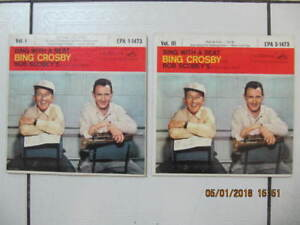 Classic 2pc Lot Of Bing Crosby Vol 1&3 Bing With A Beat 45s 1957