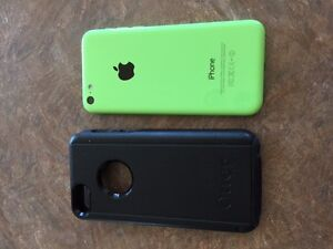 iPhone 5C and Otter Box.