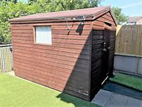 12' x 8' T&G Garden Shed