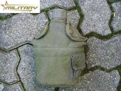 Original US Feldflasche Trinkflasche Flasche mit Hülle gebraucht