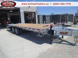 10 TON DUALLY GALVANIZED HEAVY EQUIPMENT DECK OVER TRAILER 25' London Ontario image 1