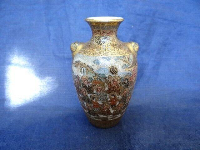 Very Fine Antique Meiji Period Japanese Miniature Satsuma Vase