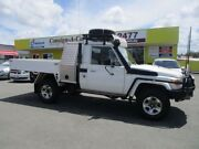 2010 Toyota Landcruiser VDJ79R MY10 GXL White 5 Speed Manual Cab Chassis Kedron Brisbane North East Preview