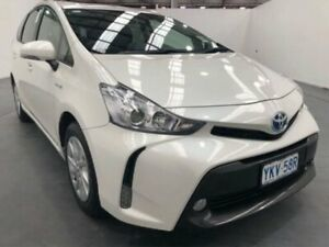 2015 Toyota Prius v ZVW40R White Constant Variable Wagon Fyshwick South Canberra Preview