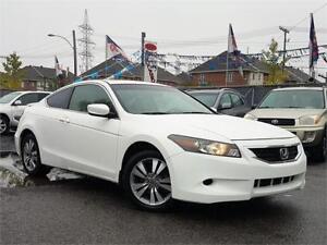 2009 Honda Coupé Accord EX/AUTO/AC/CUIR/4CYL/TOIT/CRUISE/BAS KM!