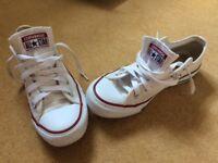 Converse shoes size 3 white