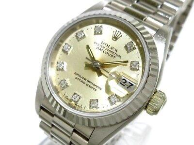 Auth ROLEX Datejust 69179G 18KYG Silver Women