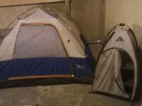 Tent & Storage tent, 2 Hard hats & ear muffs,Safety Vests, Scuba