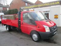 FORD TRANSIT 350 DROPSIDE PICKUP WITH TAIL LIFT 125 psi TURB (red) 2012