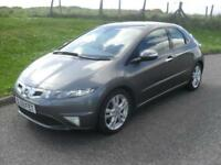 Honda Civic 2.2i-CTDi 2009MY ES MOT 2/10/18 ONLY 85350 Mls 5 Dr Silver Clean