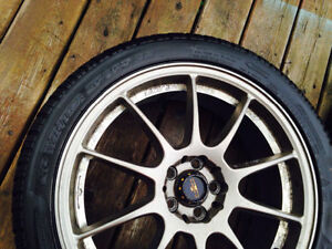 "18"" Kazera wheels with Dunlop winter tires 5x100 bolt pattern Windsor Region Ontario image 2"