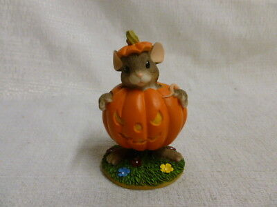 Charming Tails Maxine's Pumpkin Costume 87/430 Fall Halloween Mouse