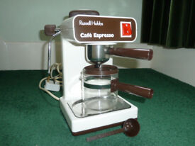 RUSSELL HOBBS CAFE ESPRESSO COFFEE MAKER, COLLECTION ONLY.