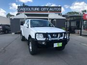2010 Nissan Navara D40 ST-X King Cab White 6 Speed Manual Utility Morayfield Caboolture Area Preview