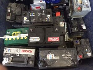 Batteries for  golf cart,forklift,car,truck we take and pay you