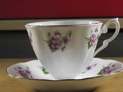 Paragon Bone China (Vintage Paragon Bone China Teacup And Saucer Purple Floral Free UK P&P )