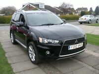 2010 MITSUBISHI OUTLANDER 2.2 DID JURO EDITION 4 X 4 7 SEATER AUTOMATIC 53K 12 MONTH M.O.T.