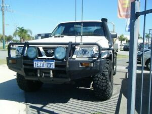 2003 Nissan Patrol GU II DX White 5 Speed Manual Cab Chassis East Rockingham Rockingham Area Preview