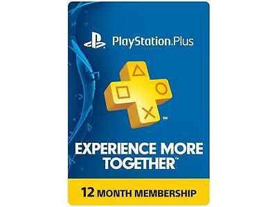 Playstation Plus 1 Year Membership    Email Delivery