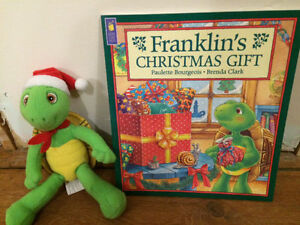 CHRISTMAS FRANKLIN Toy and Book $15