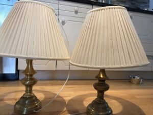 3 brass lamps for sale.
