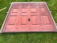 Hormann Garage Door - Single, Teak effect fibreglass