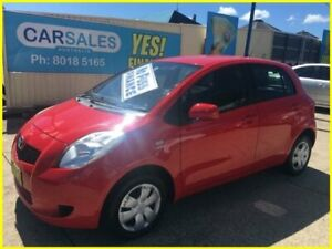 2007 Toyota Yaris NCP90R YR Red 4 Speed Automatic Hatchback