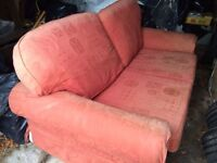 Large sofa bed, faded but very comfortable